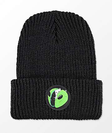 RIPNDIP In My Mind Black Ribbed Beanie