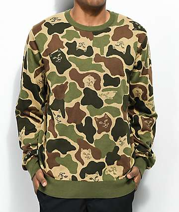 RIPNDIP Invisible Green Sweater