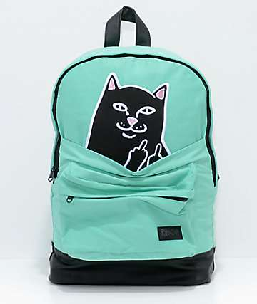 RIPNDIP Lord Jermal Green & Black Backpack