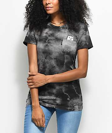 RIPNDIP Lord Nermal Black Smoke Tie Dye Pocket T-Shirt