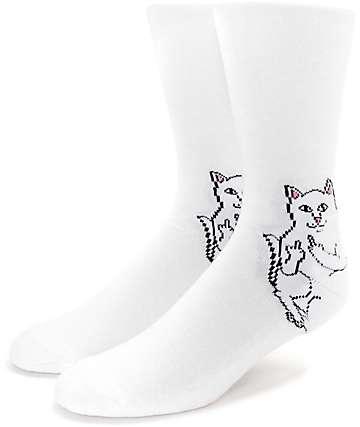 RIPNDIP Lord Nermal White Crew Socks