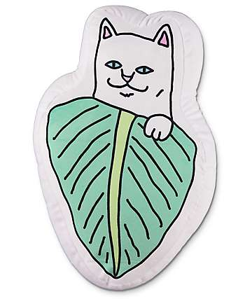 RIPNDIP Nermal Leaf Pillow
