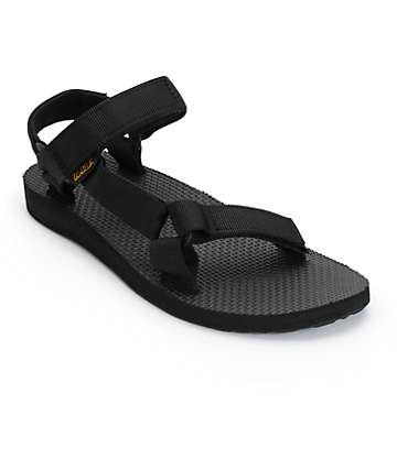 RTV- Teva Original Universal Black Sandals