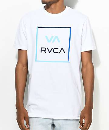 RVCA All The Colorway White & Blue T-Shirt