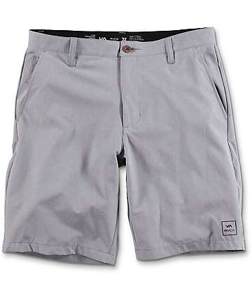 RVCA All The Way Heather Grey Hybrid Board Shorts