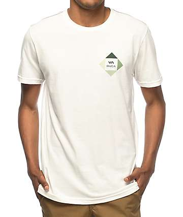 RVCA All The Way White & Green T-Shirt