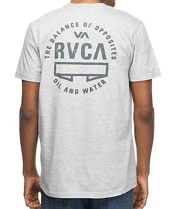 RVCA Balance Seal camiseta gris con bolsillo