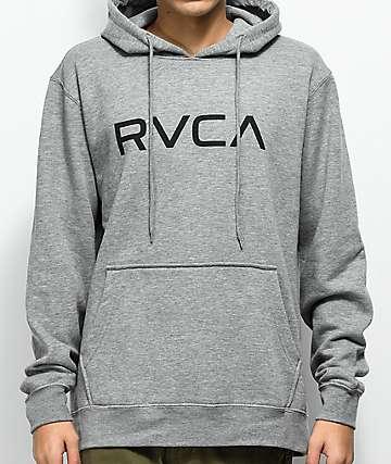 RVCA Big Athletic sudadera gris con capucha