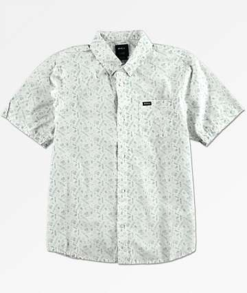 RVCA Boys Sea & Destroy Short Sleeve Button Up Shirt