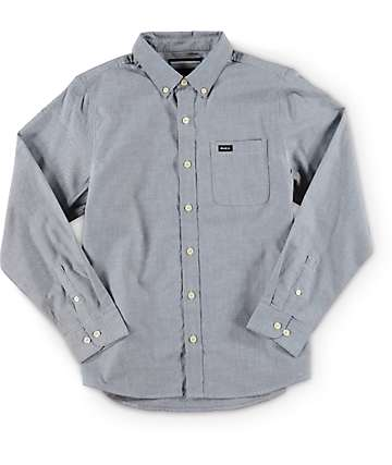 RVCA Boys That'll Do Oxford Long Sleeve Button Up Shirt