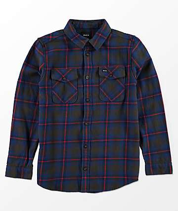 RVCA Boys That'll Work Chocolate Flannel