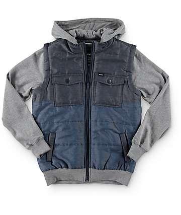 RVCA Boys Wayward Vest Hoodie