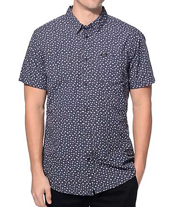 RVCA Brush Blocks Carbon Button Up Shirt
