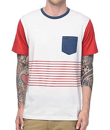 RVCA Change Up Black & White Stripe T-Shirt