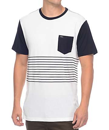 RVCA Change Up Navy & White Pocket T-Shirt