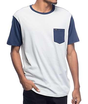 RVCA Change Up camiseta azul en dos tonos