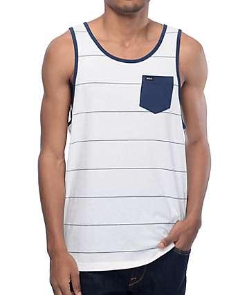 RVCA Change Up camiseta sin mangas en blanco y azul marino