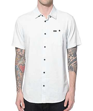 RVCA Cirrus Washed Denim Button Up Shirt