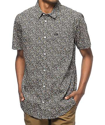 RVCA Cluster Mini Floral Woven Button Up Shirt