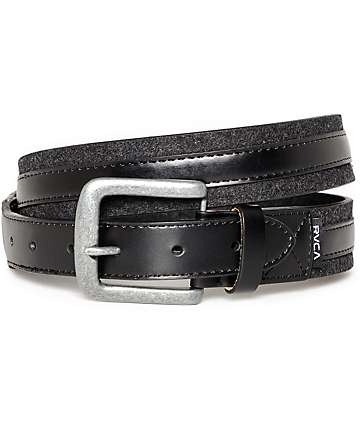 RVCA Crescent Black & Charcoal Belt
