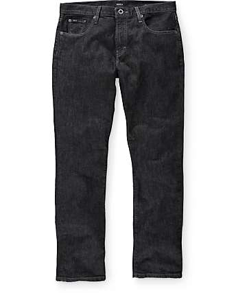 RVCA Daggers Heritage Black Denim Slim Fit Jeans