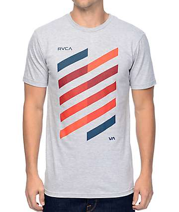 RVCA Diagonal Athletic Grey T-Shirt