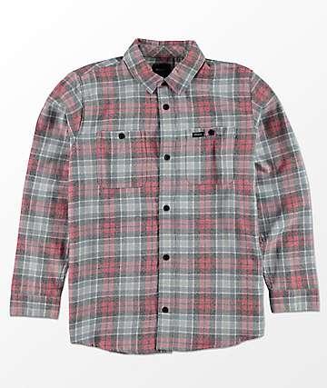 RVCA Diffusion camisa de franela para niños en rojo, azul y blanco