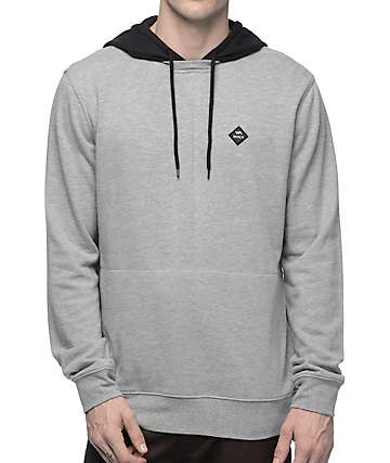 RVCA Double Down Athletic Grey & Black Hoodie
