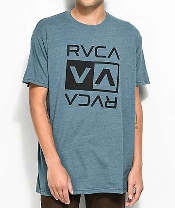 RVCA Double Flip Heather Navy T-Shirt
