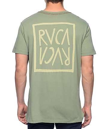 RVCA Flip Flop Box Vintage Green T-Shirt