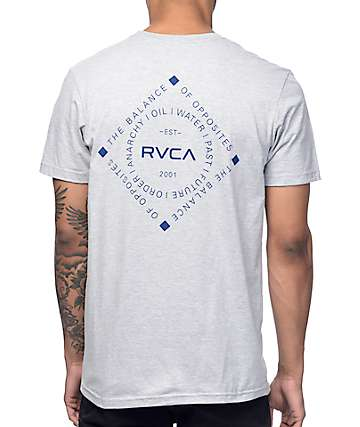 RVCA Four Corners Grey T-Shirt