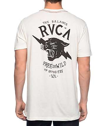 RVCA Free and Wild Vintage White T-Shirt