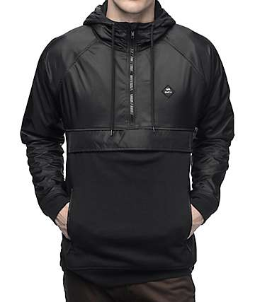 RVCA Function Black Anorak Fleece Jacket