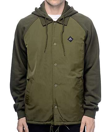 RVCA Game Day Olive Puffer Jacket
