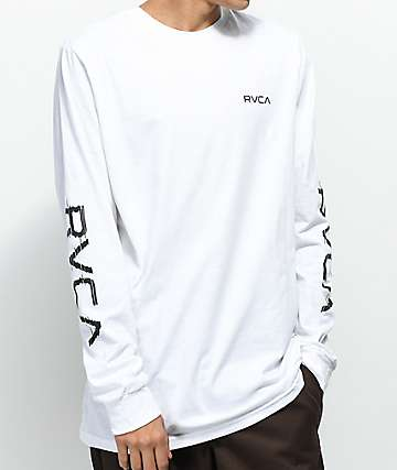 RVCA Glitch White Long Sleeve T-Shirt
