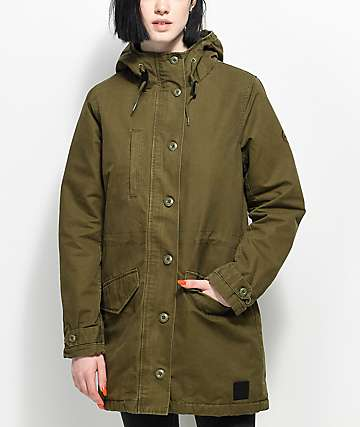 RVCA Ground Control Olive Jacket