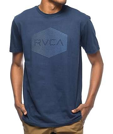 RVCA Halftone Hex 2 camiseta en azul marino