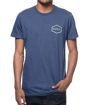 RVCA Hexed Blue T-Shirt