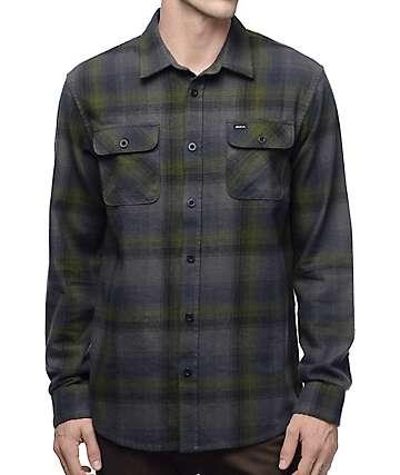 RVCA Highland II camisa de franela en gris y color olivo