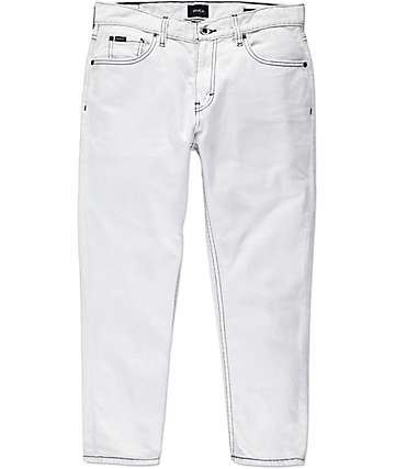 RVCA Hitcher Bleached Crop Denim Jeans