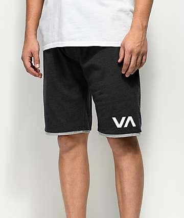 RVCA Layers II Heather Black Athletic Shorts