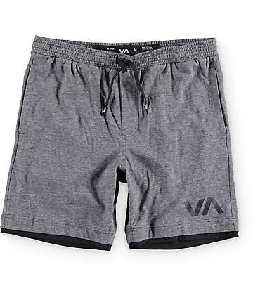 RVCA Layers Sport Black Shorts