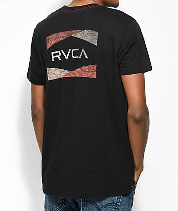 RVCA Nation 2 Black T-Shirt