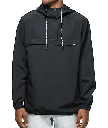 RVCA Packaway Black Anorak Jacket