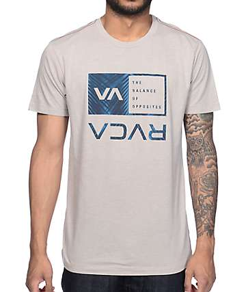 RVCA Palm Box Cool Grey T-Shirt
