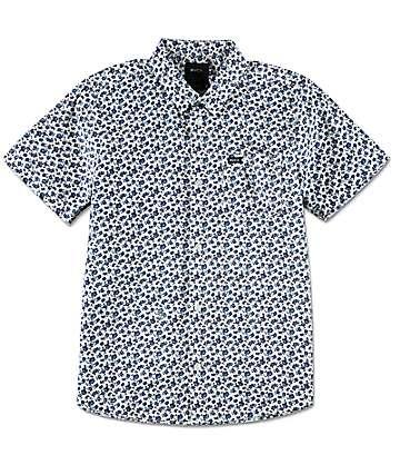 RVCA Porcelain camisa blanca tejida para niños