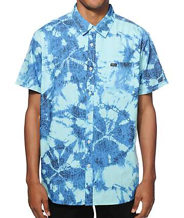 RVCA Ride Or Dye Button Up Shirt