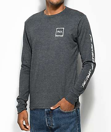 RVCA Scrawl camiseta gris