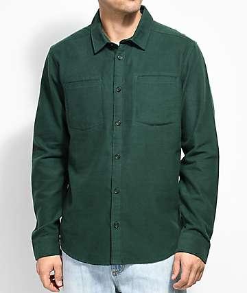 RVCA Second Look camisa de franela verde