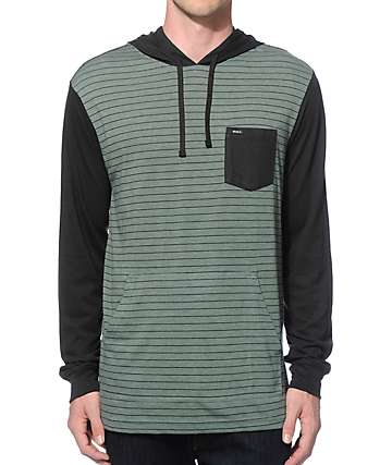 RVCA Set Up Long Sleeve Hooded Shirt